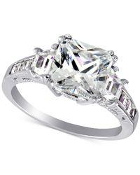 Giani Bernini | Metallic Cubic Zirconia Large Stone Ring In Sterling Silver | Lyst