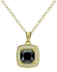 Giani Bernini | Metallic Cubic Zirconia Halo Pendant Necklace In 18k Gold-plated Sterling Silver | Lyst