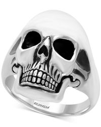 Effy Collection | Metallic Men's Skull Ring In Sterling Silver And Black Rhodium-plate for Men | Lyst