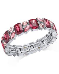 Charter Club - Metallic Silver-tone Stone & Crystal Cluster Stretch Bracelet, Created For Macy's - Lyst