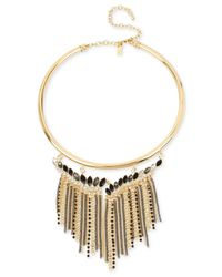 INC International Concepts | Metallic Gold-tone Stone And Fringe Collar Necklace | Lyst