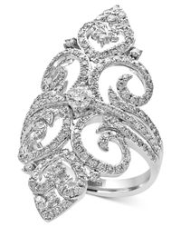 Effy Collection | Metallic Diamond Filigree Ring (1-1/4 Ct. T.w.) In 14k White Gold | Lyst