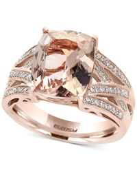 Effy Collection | Metallic Morganite (4-1/2 Ct. T.w.) And Diamond (1/4 Ct. T.w.) Ring In 14k Rose Gold | Lyst