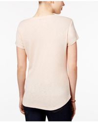 Style & Co. | Natural Petite Paisley-graphic T-shirt | Lyst
