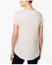 Style & Co. | Metallic Petite Floral Top | Lyst