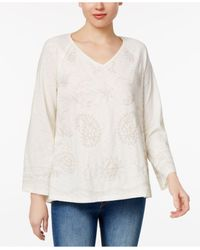 Style & Co. | White Bell-sleeve Embroidered Top | Lyst
