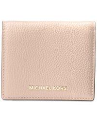 Michael Kors - Pink Mercer Flap Card Holder - Lyst