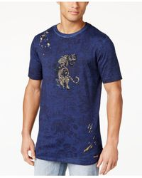 Sean John | Blue Men's Graphic-print Cotton T-shirt for Men | Lyst