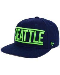 47 Brand - Blue Seattle Seahawks On Track Captain Cap for Men - Lyst