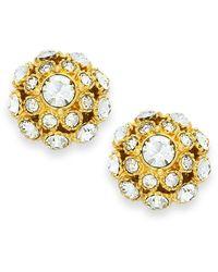Kate Spade - Metallic Earrings, 12k Gold-plated Crystal Ball Stud Earrings - Lyst