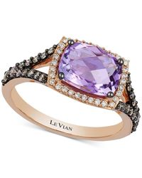 Le Vian | Multicolor Amethyst (1-3/4 Ct. T.w.) And Diamond (3/8 Ct. T.w.) Ring In 14k Rose Gold | Lyst