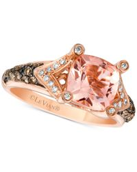 Le Vian | Pink Chocolatier® With Peach Morganitetm (1-5/8 Ct. T.w.) And Diamond (3/8 Ct. T.w.) Ring In 14k Rose Gold | Lyst