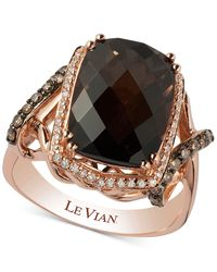 Le Vian | Metallic Smoky Quartz (5-1/10 Ct. T.w.) And Diamond (3/8 Ct. T.w.) Statement Ring In 14k Rose Gold | Lyst