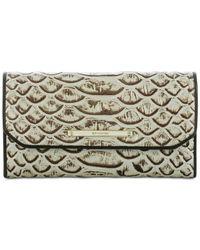 Brahmin | Metallic Dogwood Soft Checkbook Wallet | Lyst