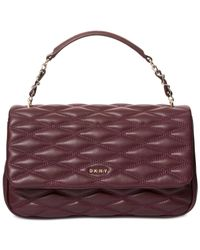 DKNY - Purple Lara Small Flap Shoulder Bag - Lyst