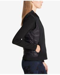 DKNY - Black Mixed-media Active Jacket - Lyst