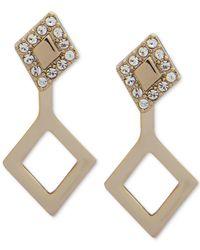 Ivanka Trump - Metallic Gold-tone Crystal & Link Ear Jacket Earrings - Lyst