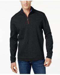 Tommy Bahama | Black Flip Side Reversible Mock-collar Sweater for Men | Lyst