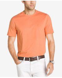 Izod | Orange Men's Cotton Performance T-shirt for Men | Lyst