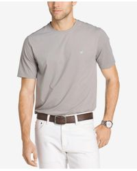 Izod | Gray Men's Cotton Performance T-shirt for Men | Lyst
