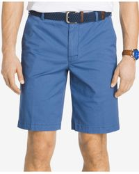 Izod | Blue Saltwater Stretch Chino Shorts for Men | Lyst