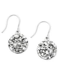 Kenneth Cole | Metallic Earrings, Textured Silver-tone Coins | Lyst