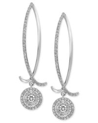 Effy Collection | Diamond Drop Earrings (1-1/6 Ct. T.w.) In 14k White Gold | Lyst