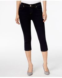 INC International Concepts | Black Petite Tikglo Wash Cropped Skimmer Jeans | Lyst