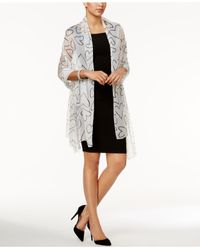 INC International Concepts | White Scribble Heart Evening Wrap | Lyst