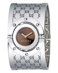 Gucci | Multicolor Watch, Women's Twirl Collection Stainless Steel Bangle Bracelet 23mm Ya112401 | Lyst