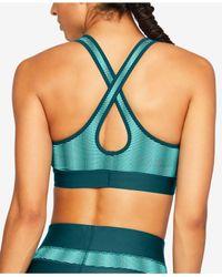 Under Armour Blue Heatgear® Cross-back Medium-impact Sports Bra