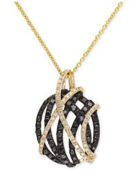 Effy Collection - Black Effy® Diamond Pendant Necklace (9/10 Ct. T.w.) In 14k Gold - Lyst