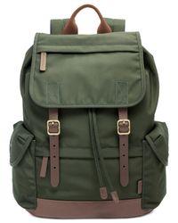 Fossil - Green Buckner Rucksack for Men - Lyst