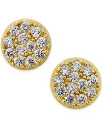 Giani Bernini - Metallic Cubic Zirconia Stud Earrings (2/5 Ct. T.w.) In 18k Gold Over Sterling Silver - Lyst