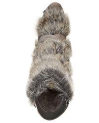 Charles David - Gray Alberta Faux-fur Booties - Lyst