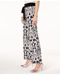 INC International Concepts - Black I.n.c. Petite Printed Pull-on Pants, Created For Macy's - Lyst