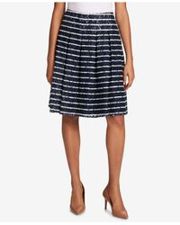 Tommy Hilfiger - Blue Pleated Lace Skirt - Lyst