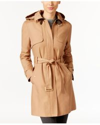 Cole Haan | Brown Belted Buckle Trench Coat | Lyst