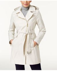 Vince Camuto | Natural Asymmetrical Trench Coat | Lyst