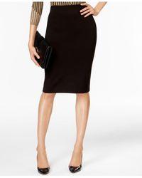 Eci | Black Compression Pencil Skirt | Lyst