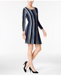 Eci | Blue A-line Sweater Dress | Lyst