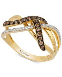 Le Vian - Metallic Diamond Knot (1/3 Ct. T.w.) In 14k Gold - Lyst