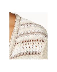 Style & Co. | Natural Striped Fringe Cardigan | Lyst