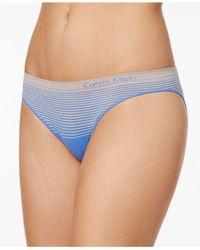 Calvin Klein - Blue Illusions Seamless Bikini Qd3548 - Lyst