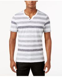 INC International Concepts | White Men's Heathered Striped T-shirt for Men | Lyst