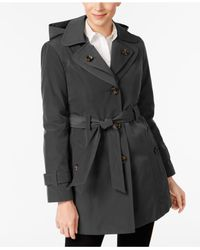 London Fog - Multicolor Double-notch-collar Belted Trench Coat - Lyst