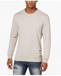 INC International Concepts | Gray Men's Ripped Sweatshirt for Men | Lyst