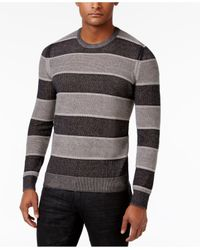 INC International Concepts | Gray Men's Penifield Striped Cotton Sweater for Men | Lyst