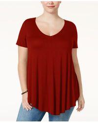 Soprano - Red Trendy Plus Size Swing T-shirt - Lyst