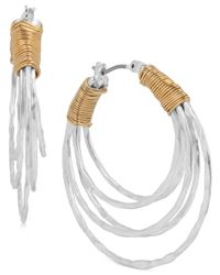 Robert Lee Morris | Metallic Two-tone Wire-wrap Multi-hoop Earrings | Lyst
